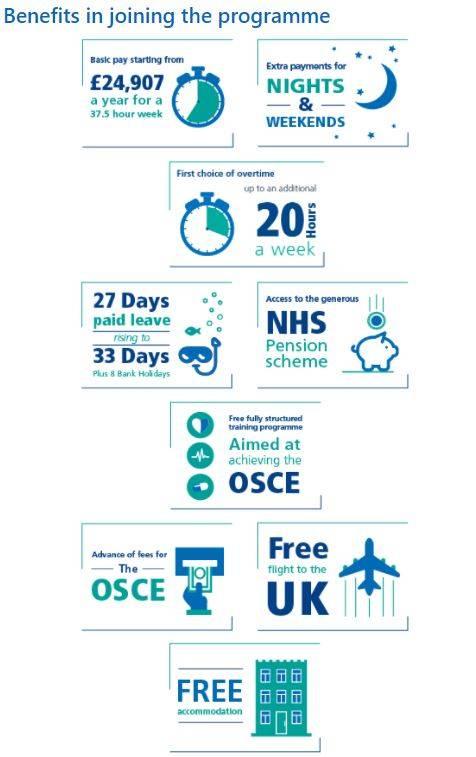 NHS於官方網站上詳列招聘條件。(圖片來源:英國NHS網站)