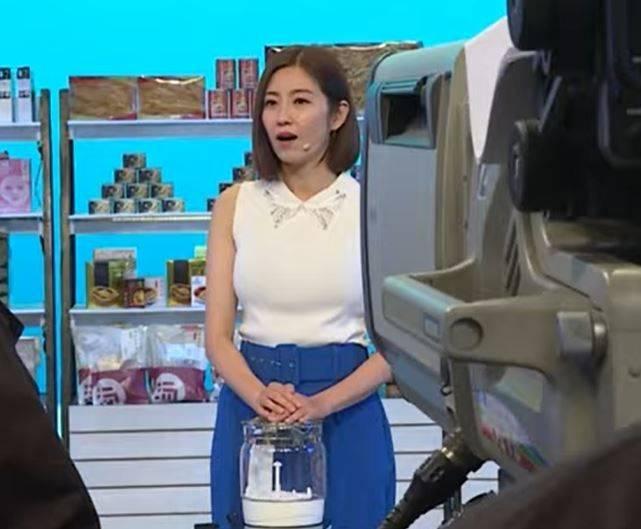 陳自瑤在直播帶貨環節中,表現失準。(圖片來源:無綫影片截圖)