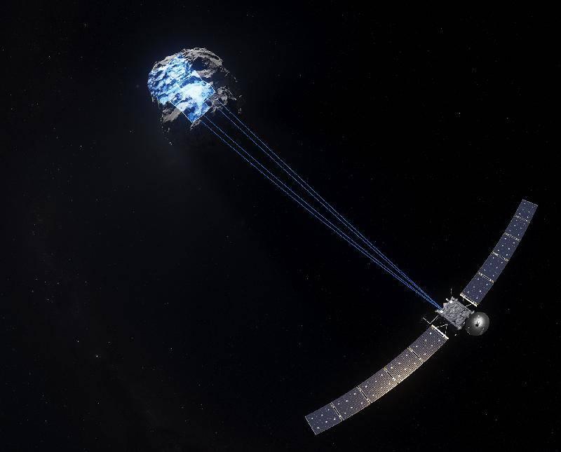 《天外有天》劇照,一個太空探測器在追蹤一顆彗星。(圖片來源:政府新聞公報)