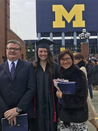 何詩蓓畢業於美國密芝根大學心理學系。(圖片來源:Instagram@siobhanhaughey01)