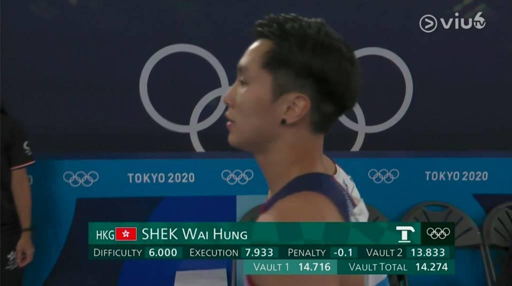 石偉雄得分為14.274分,排名第12。(圖片來源:ViuTV)