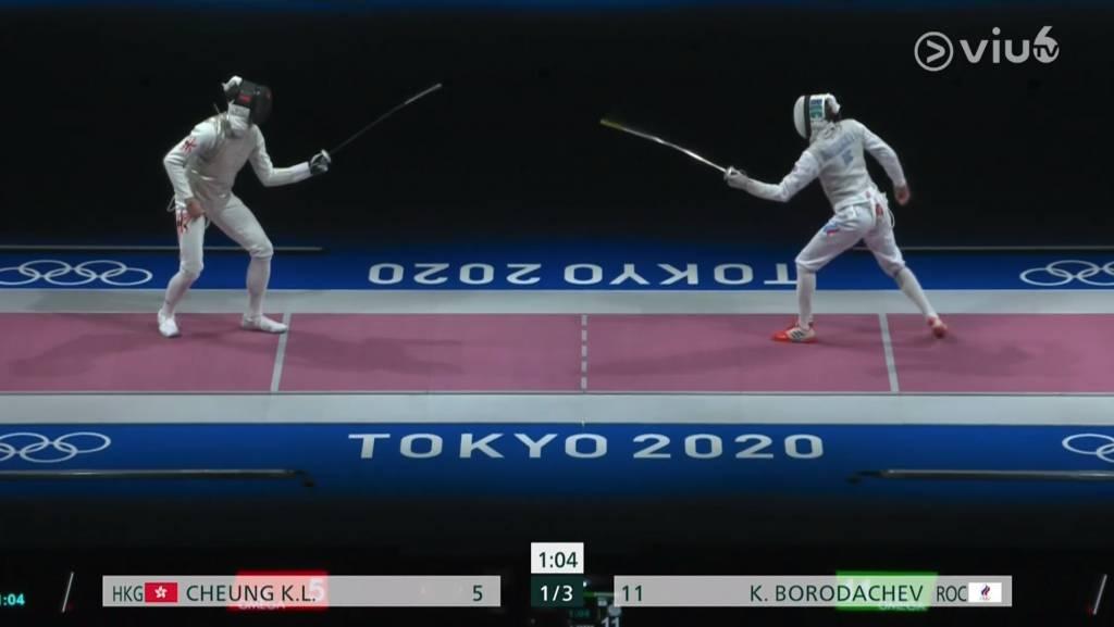 張家朗八強賽逆轉勝(圖片來源:ViuTV)