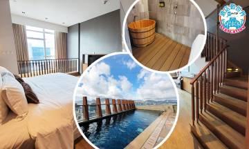 人均$356住九龍隱世酒店複式單位房 和風木系風呂+俯瞰香港海景