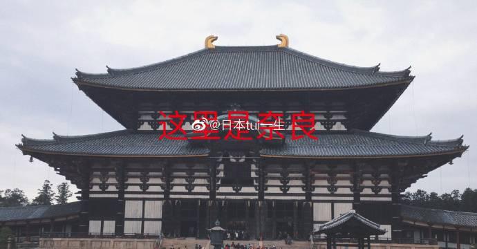 大家覺得兩間寺廟是否不同?(圖片來源:微博@日本tui一生)
