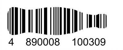 可樂瓶形狀的條碼。(圖片來源:Coca-Cola Scan)