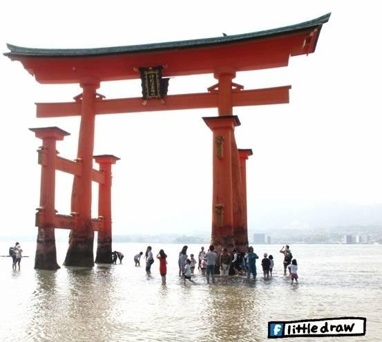 嚴島神社 , 宮島 , 手繪旅行 , 日本
