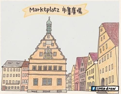 德國,手繪旅行